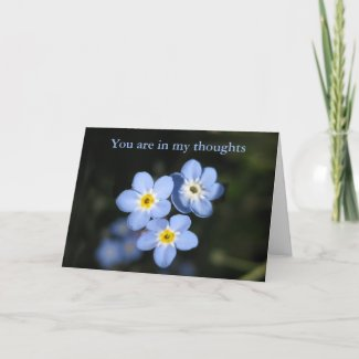 Thinking of you card - Forget me Nots