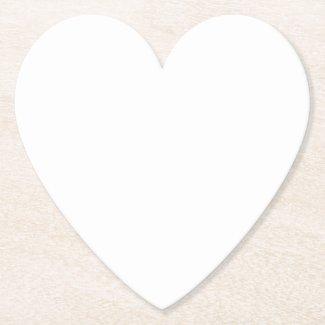 Heart Paper Coaster