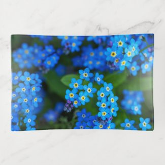 Forget-me-not Flowers Trinket Tray