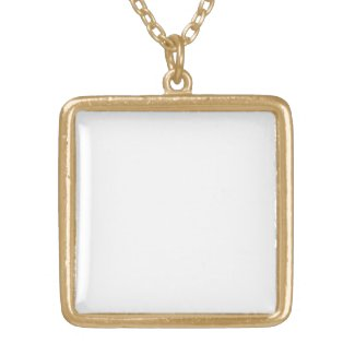Square Necklace, Gold Finish