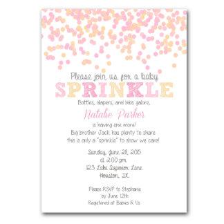 Confetti Baby Sprinkle Invitation