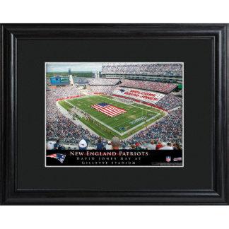New England Patriots Stadium Print w/Wood Frame