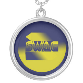 Swag Round Pendant Necklace