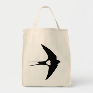 Swallow My Heart Grocery Tote Bag