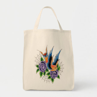 Swallow Tote Grocery Tote Bag
