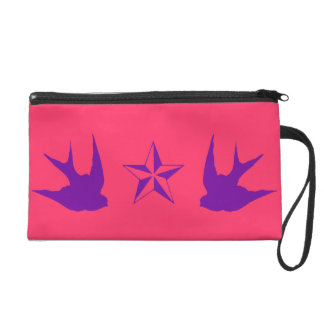 Swallows & Stars Bagettes Bag Wristlet Purses