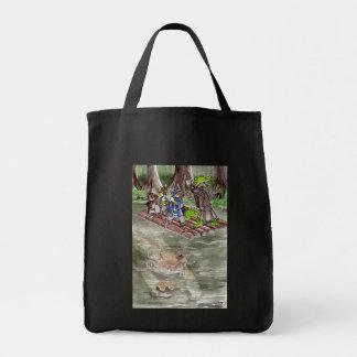 Swamp Raft Grocery Tote Bag