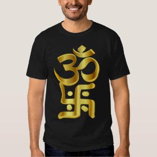 swastika,卐,om mantra t-shirt