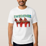 Sweden Dala Horse Tee Shirts
