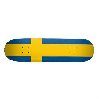 Sweden Flag Skate Board Deck