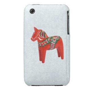 Swedish Dala Horse  Folk Art iPhone 3 Cover