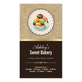 Sweet Bakery Boutique - French Parisian Macaroons Pack Of Standard Business Cards