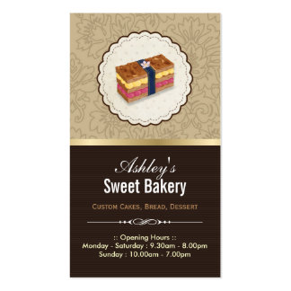 Sweet Bakery Boutique - Loaf Looking Cake Pack Of Standard Business Cards