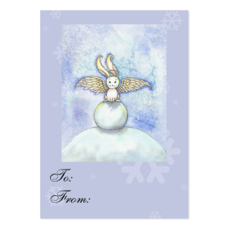 Sweet Bunny Angel Holiday Gift Tags Pack Of Chubby Business Cards