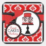 Sweet Cake Sticker Red B