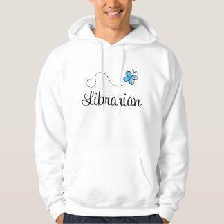 Sweet Librarian Butterfly Womens Hoodie