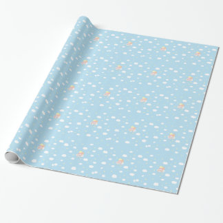 Sweet little angel blue.ai wrapping paper