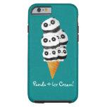Sweet Panda Bear Ice Cream Cone Tough iPhone 6 Case