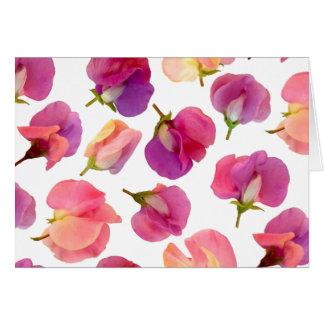 Sweet Pea Flower Greeting Card