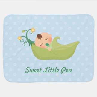Sweet Pea in a Pod For Baby Boy Baby Blankets