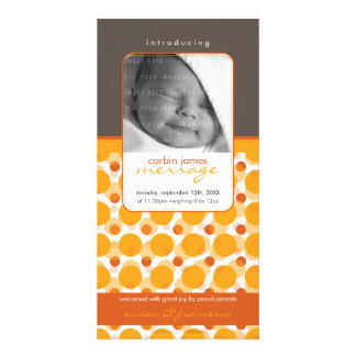 SWEET PHOTO  BIRTH ANNOUNCEMENTS :: hello baby 5 Photo Greeting Card
