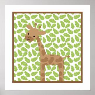 Sweet Safari Little Giraffe Nursery Wall Art Poster