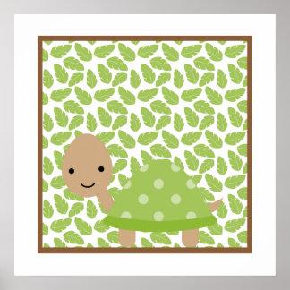 Sweet Safari Little Turtle Nursery Wall Art Poster