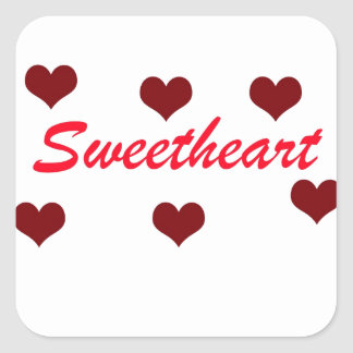 Sweetheart Square Sticker
