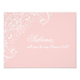 "Sweetness | ""Will you be Flower Girl"" Card 11 Cm X 14 Cm Invitation Card"
