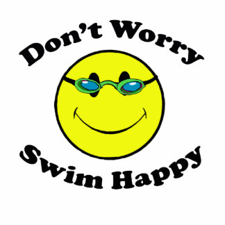 Swim Happy Photo Sculpture Decoration