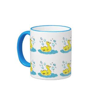 Swimming Ducks n Bubbles Ringer Mug