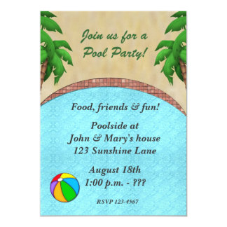 Swimming Pool Party Invitation