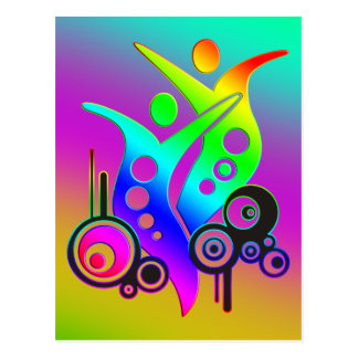 SWING/coloured diagonally Postcard