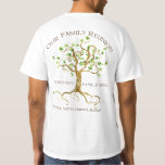 Swirl Tree Roots Personalise Family Reunion Gift Tshirt