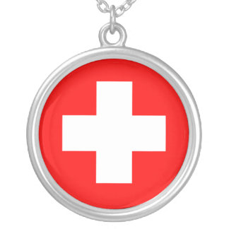 Swiss Medical Cross Sterling Silver Necklace