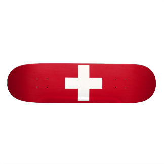 Switzerland Flag Skate Board Deck