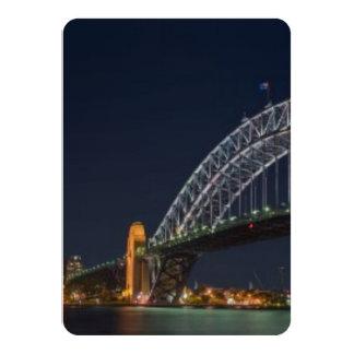 Sydney Harbour Bridge Austrailia 11 Cm X 16 Cm Invitation Card