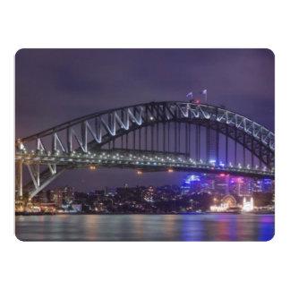 Sydney Harbour Bridge Austrailia 17 Cm X 22 Cm Invitation Card