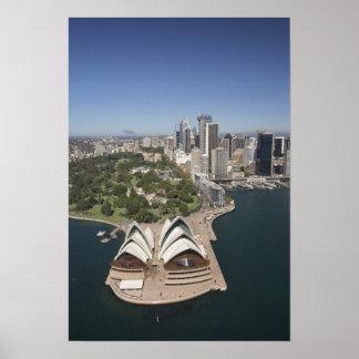 Sydney Opera House, Royal Botanic Gardens, CBD Poster