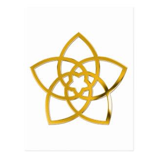 Symbol Venus Flower / GOLD Postcard
