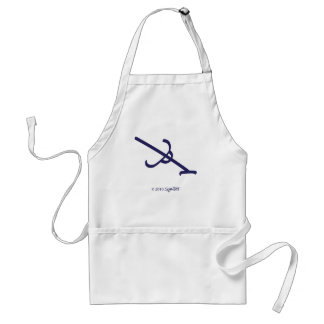 SymTell Purple Defeated Symbol Standard Apron