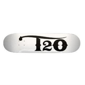 T2O Black Logo Deck 20 Cm Skateboard Deck
