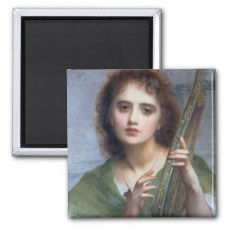 T31601 A Lady with Lyre (panel) Square Magnet