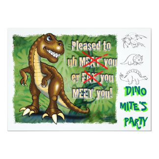 T-Rex birthday party invite