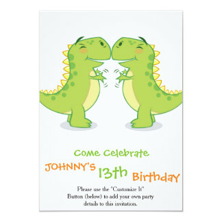 T-Rex Hug...So Close 13 Cm X 18 Cm Invitation Card