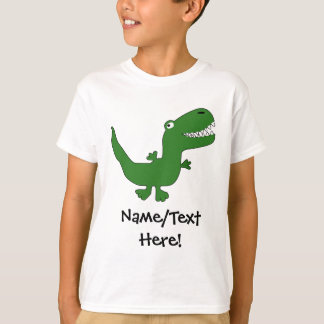 T-Rex Tyrannosaurus Rex Dinosaur Cartoon Kids Boys T Shirts