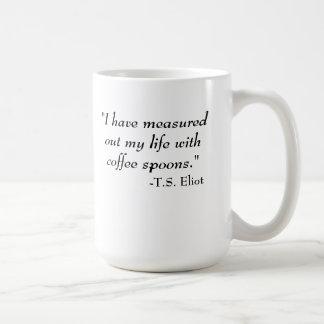T.S. Eliot quote Basic White Mug