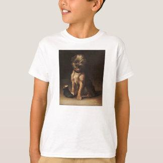 T-shirt Reproduction Vintage Portrait of puppy