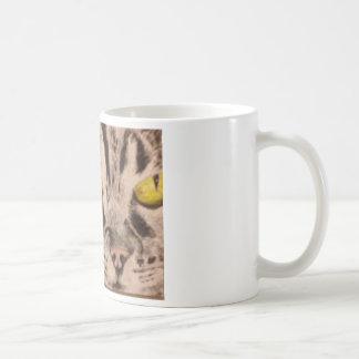 Tabby Cat Coffee Cup Basic White Mug