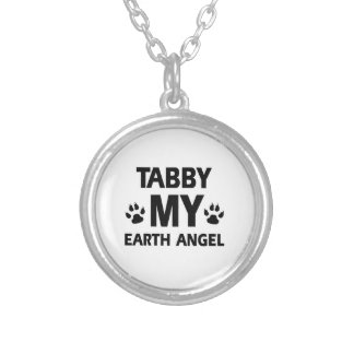 TABBY CAT DESIGN ROUND PENDANT NECKLACE
